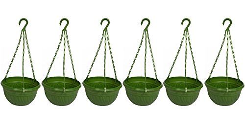 Hanging Planter Green (Pack of 6)