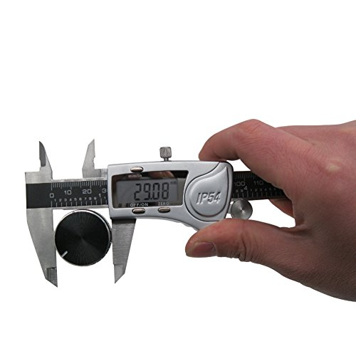 Digital Vernier Caliper IP54 Made of Hardened Stainless Steel Large LCD Screen-6''/150mm-Auto Off Provides Precision Measurement in Inches and Metric Easy to Read and Use by TWIDEC (Image #2)