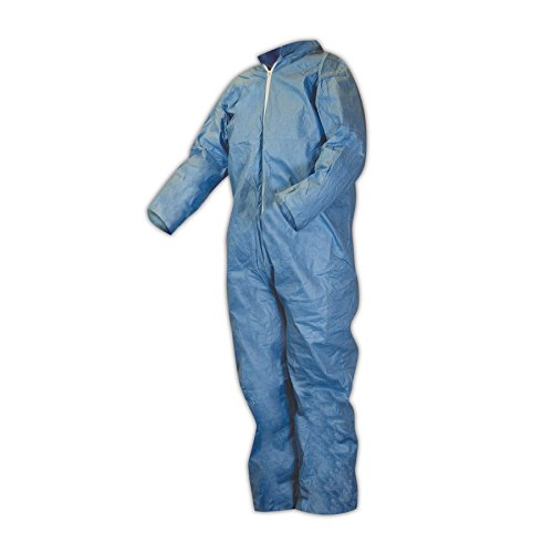 Kimberly-Clark 45314 KleenGuard A65 Flame Resistant Coveralls, Medium, Blue , XL (Pack of 25)