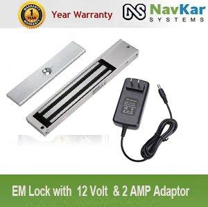 NAVKAR EM Lock with 12 Volt & 2 AMP Adaptor
