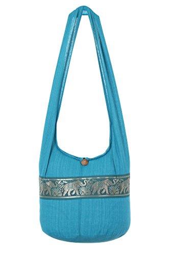 de Stripe de mano Blue nbsp;– bolsa bolsa nbsp;– Thai de nbsp;playa Sling Boho Ocean bolso hombro nbsp;100 elefante viaje hippy Gypsy algodón diseño B7OxwUq1