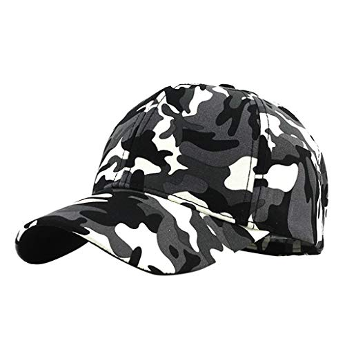 Yucode Classic Camouflage Style Baseball Cap All Cotton Made Adjustable Fits Men Women Low Profile Black Hat Unconstructed ()