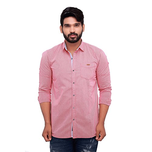 Roller Fashions Solid Casual Wear Full-Sleeve Cotton Shirts For Men
