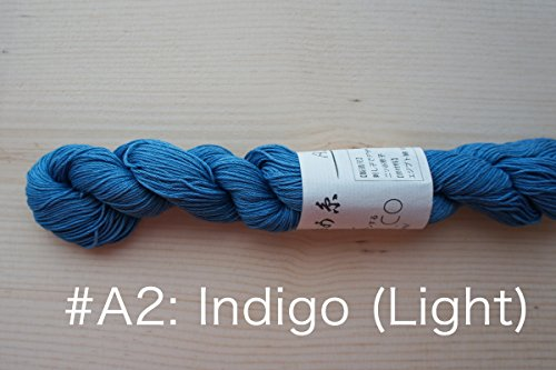 Sashiko Thread | Hand Dyed with Natural Indigo (A2: Light Indigo)