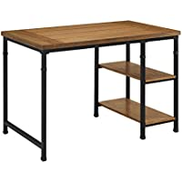 Oh! Home Tara Desk - 2 Shelf, Two open shelves on the right side offer additional storage space