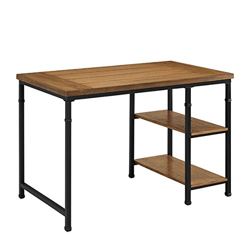 Cheap Oh! Home Tara Desk – 2 Shelf, Two open shelves on the right side offer additional storage space