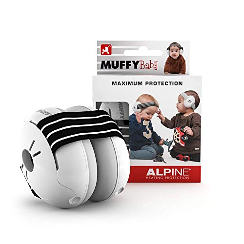 Alpine Muffy Baby Ear Protection - Baby Ear Muffs - Noise Protection for Babies and Toddlers up to 36 Months - Comfortable Infant Ear Protection - Prevent Hearing Damage & Improve Sleep, Black from Alpine Hearing Protection