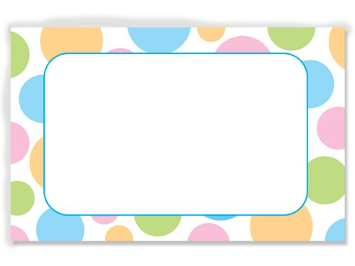 50 pack Pastel Dots- No SentimentEnclosure Cards (20 unit, 50 pack per unit.) by Nas