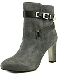 Indraa Women Round Toe Suede Gray Ankle Boot