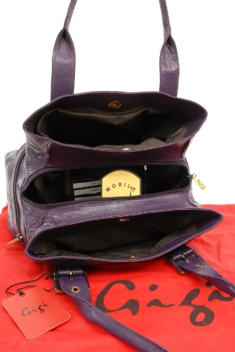 mano Bolso GIGI 6165 OTHELLO de Cuero Morado IxEUF0wE