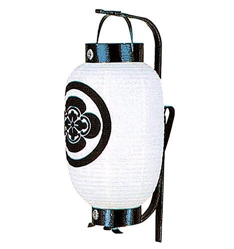 盆提灯 お迎え提灯 紋入 弓張 夏目型 弓付 電池式LED 家紋入れ代込み h308-ymt-1104-led1584 B010CQHYJ6