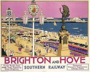 Vintage Brighton /& Hove Railway Poster A3 A2 Print