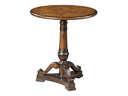 Wood Hekman End Table (Hekman Furniture 27306 Pedestal End Accent Side Table)