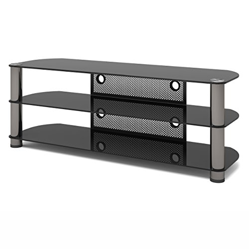 Sonax NY-9584 New York Metal and Glass TV Stand, 58-Inch