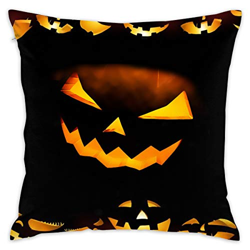 YING Halloween Calabazas Soft Comfortable Hold Pillow Cover Cushions Throw Pillow Home Decorative Pillowcase 18