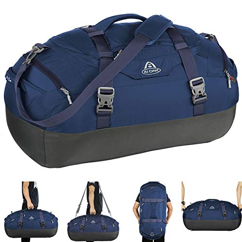 AIONE Duffel Backpack Bag 4-Way Sports Gym Backpack 45L/55L/65L Travel Luggage Bags with Shoe ()