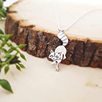 Raccoon Charm Necklace - Sterling Silver - Woodland Animal Necklace