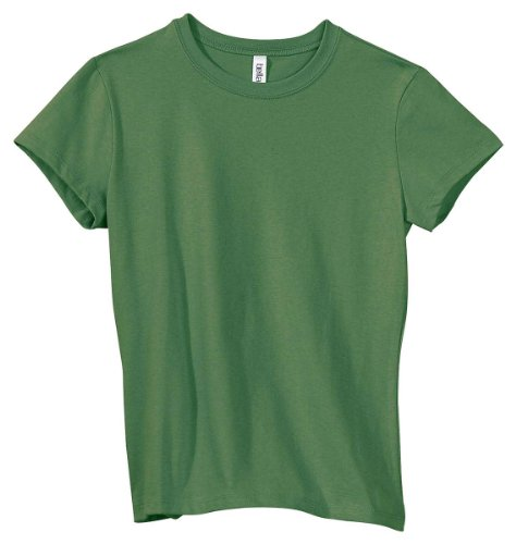 Bella Women's 1x1 Baby Rib Cap-Sleeve T-Shirt B1001, Large, Leaf
