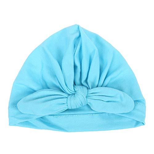 6329782d43a DRESHOW BQUBO 5 Pieces Baby Turban Hats Turban Bun Knot Baby Infant Beanie  Baby Girl Soft