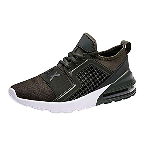 (Xinantime Summer Sandals Men's Large Size Woven Running Shoes high Elastic air Cushion Sole Shoes Black)