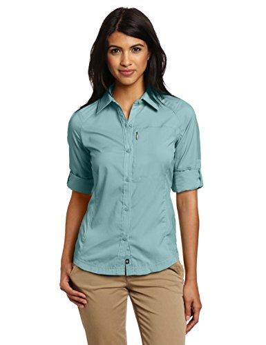 Columbia Women's Silver Ridge Long Sleeve Shirt, Dusty Green, - Dusty Silver
