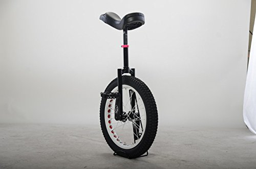 Koxx Fluo 20 Trials Unicycle, Black with White Rims