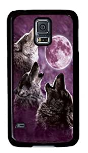 Generic Animal Theme Wolf Pattern Durable Back Case for Samsung Galaxy S5