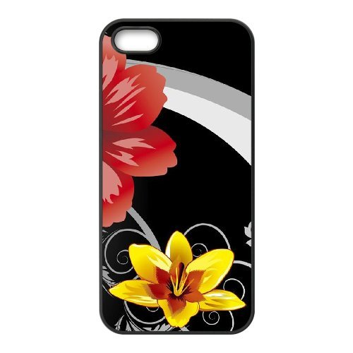 SYYCH Phone case Of Bright Color Flower 1 Cover Case For iPhone 5,5S