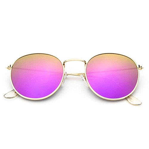 Sinkfish SG80026 Sunglasses for Women,Anti-UV & Retro Round Reflector - UV400/Bisque - Sunglasses Topman