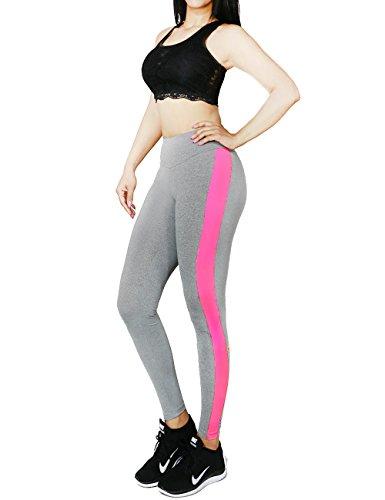Women's Activewear Running Yoga Sports Gym Fitness Bottom Pants Collection (MEDIUM, GREY-9007)