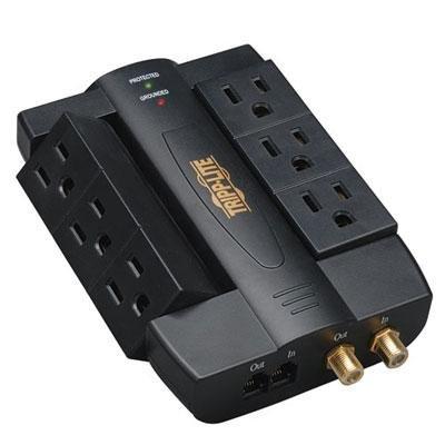 Tripp Lite HTSWIVEL6 6 Outlet Surge 1200J Coax/Tel from Tripp Lite