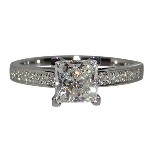 Zirconia Ring - ✔ Hypothesis_X ☎ Silver Diamond Rings for Women Arrows Cut Cubic Zirconia Ring Wedding Rings