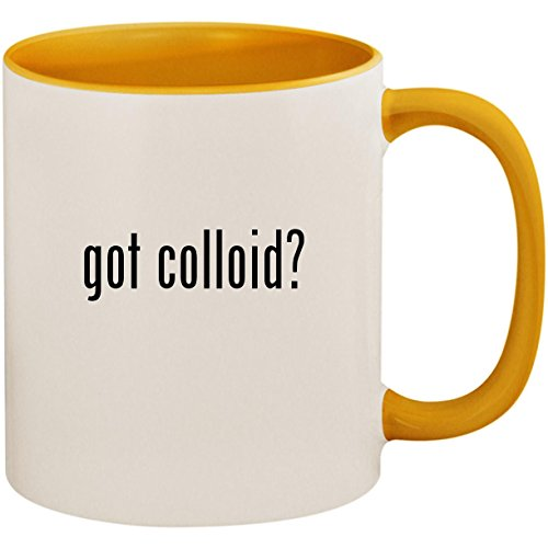 got colloid? - 11oz Ceramic Colored Inside and Handle Coffee Mug Cup, Golden Yellow