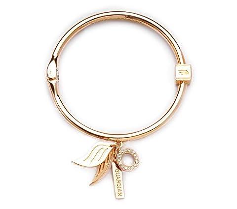 Ashley Bridget Guardian Bangle Bracelet - Angel Collection with Inspirational Charms