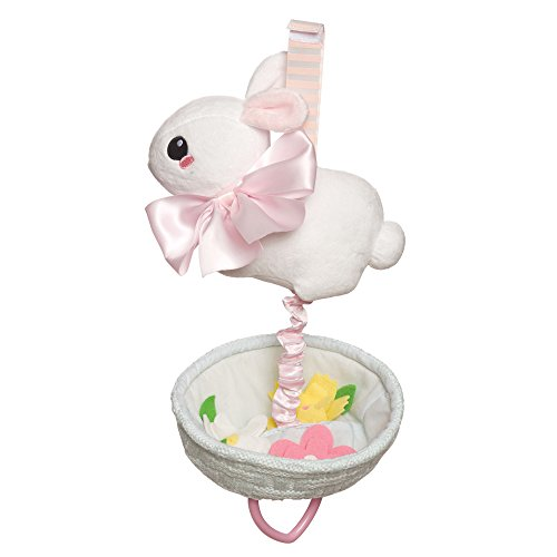Manhattan Toy Lullaby Bunny Pull Musical Crib and Baby Toy Lullaby Bunny