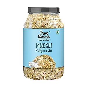 True Elements Diet Muesli 1kg - Loaded with Multigrains, Muesli Sugar Free, Cereal for Breakfast, Diet Food for Weight… 10 41XcGrWzT4L. SS300