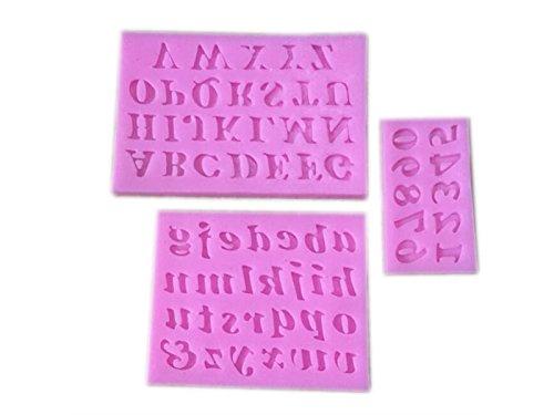 Ovvo lettera dell alfabeto numero bandiera silicone decora torta rosa
