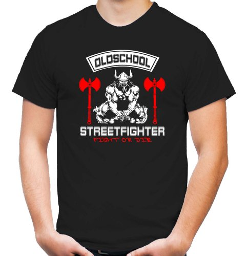Old School Streetfighter T-Shirt | MMA | Fussball | Herren | Männer | Schlagring | Hardcore M3