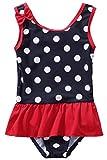BeautyIn Kids Girls Rash Guard Ruffle Cute Dots One