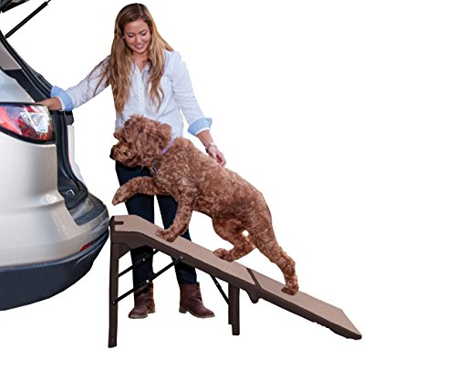 Pet Gear Free Standing Ramp for Cats and Dogs. Great for SUV's or use Next to your Bed. 4 Models to Choose from, Supports 200-300 lbs, Lightweight Easy-Fold Design Carpeted Ramp