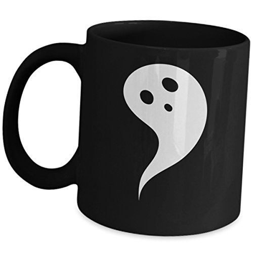 Cute Halloween Quotes Sayings Kids (Halloween Ghost Themed Coffee Mug Cute Happy Halloween Party Surprise Gift Trick or Treat Gifts Ceramic Mug Black Cup For Kids or Adults Friends Office Co Workers School Mates)
