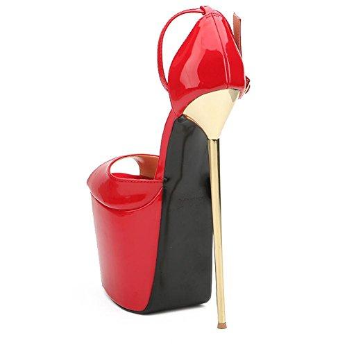 Chaussures red PU Printemps Dress Party Acier des Automne Ultra amp; Talons Soirée L des 22cm en Fin Femmes avec Hauts YC Haute Formelles fq4cwTBUO