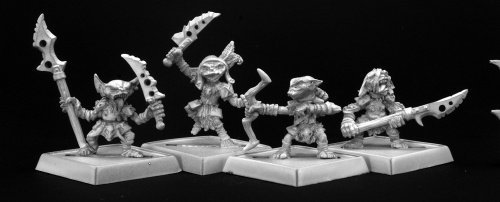 Goblin Warriors (4) Pathfinder Series Miniatures by Reaper