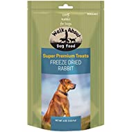 Walk About Pet, WA10031, Super Premium Dog Treats, Grain-Free, Gluten-Free, Single Source Protein, Freeze-Dried Rabbit, Resealable Pouch, 4-Ounces