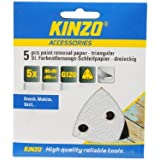 KINZO 71732 90mm G120 Triangular Paint Removal Paper by Kinzo