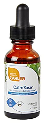 Zahler CalmEase, All Natural Advanced Anti-STRESS and Natural CALM Supplement, Fast Acting ANXIETY Relief and Overall Mood Boosting Formula, Certified Kosher, 1oz