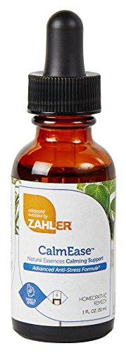 (Zahler CalmEase, Natural STRESS Relief and CALM Supplement, Fast Acting ANXIETY Relief and Overall Mood Boosting Formula, Certified Kosher, 1oz)