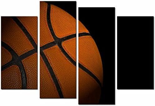 4 Panel Lienzo Arte de la pared Imagen de baloncesto Impresiones ...