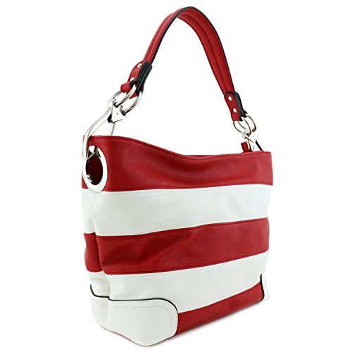 Hobo Shoulder Bag with Big Snap Hook Hardware - Small Satchel With Strap