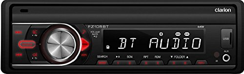 Clarion FZ105BT Clarion FZ105BT Single-DIN Bluetooth In-Dash Mechless Car Stereo (Clarion Car Radio compare prices)